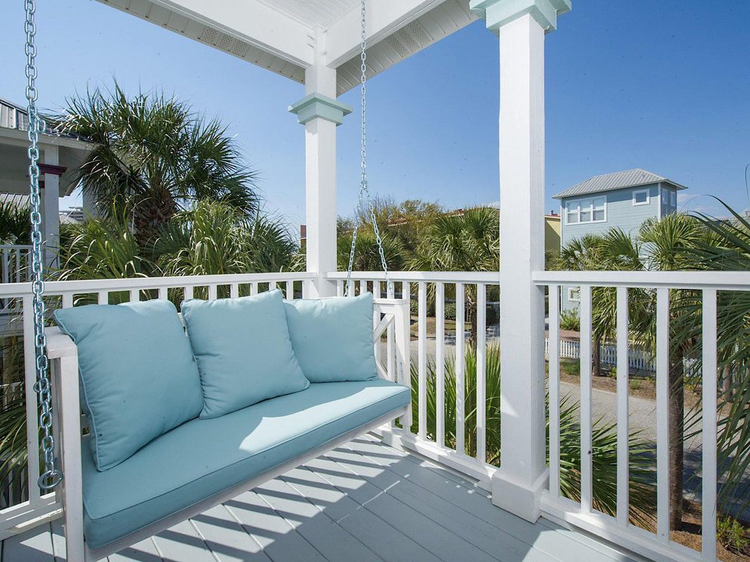 Gulfside Cottage Porch Swing